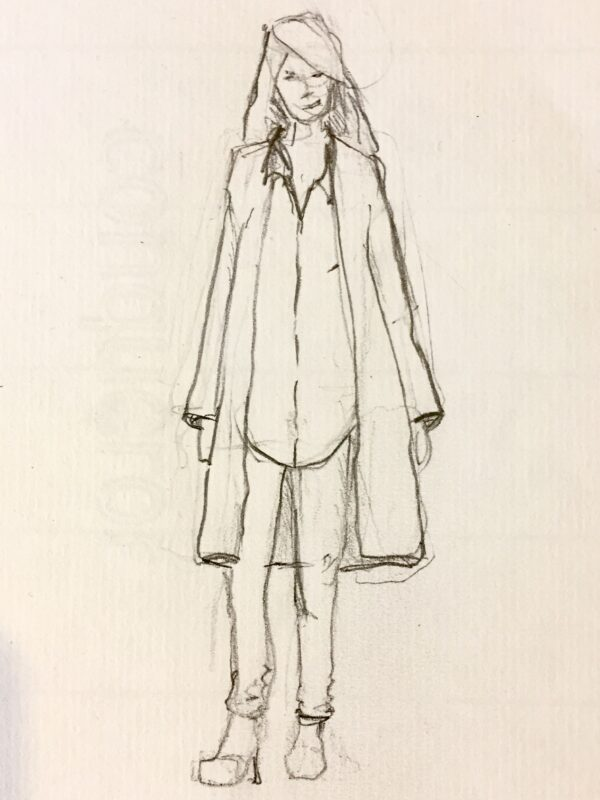 tegning tøj silhuet