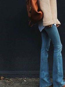 jeans cardigan blå pink brun taske løs løse
