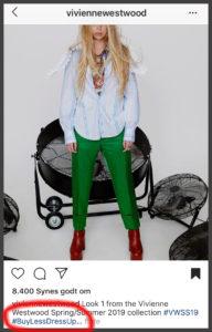 ad3159329375 Vivienne Westwood holder på alle måder stadig. Også i hendes tilgang til  tøj ...  buylessdressup