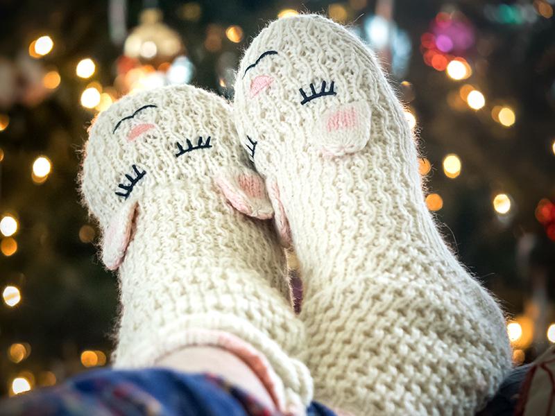 sokker hygge jul