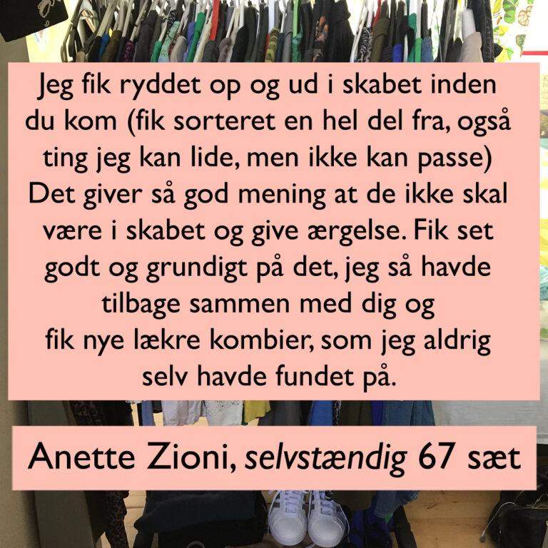 Anette Zioni 67 sæt