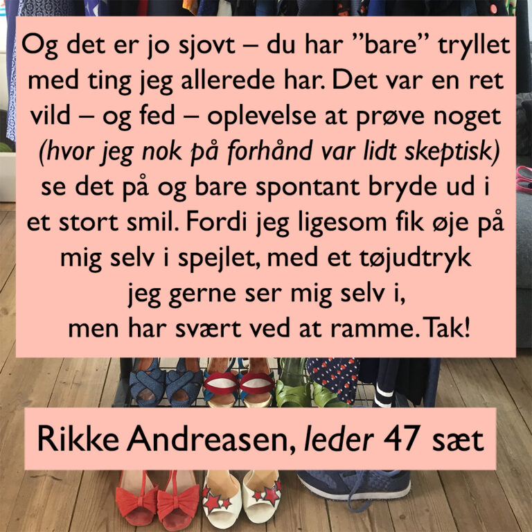 Rikke Andreasen 47 sæt