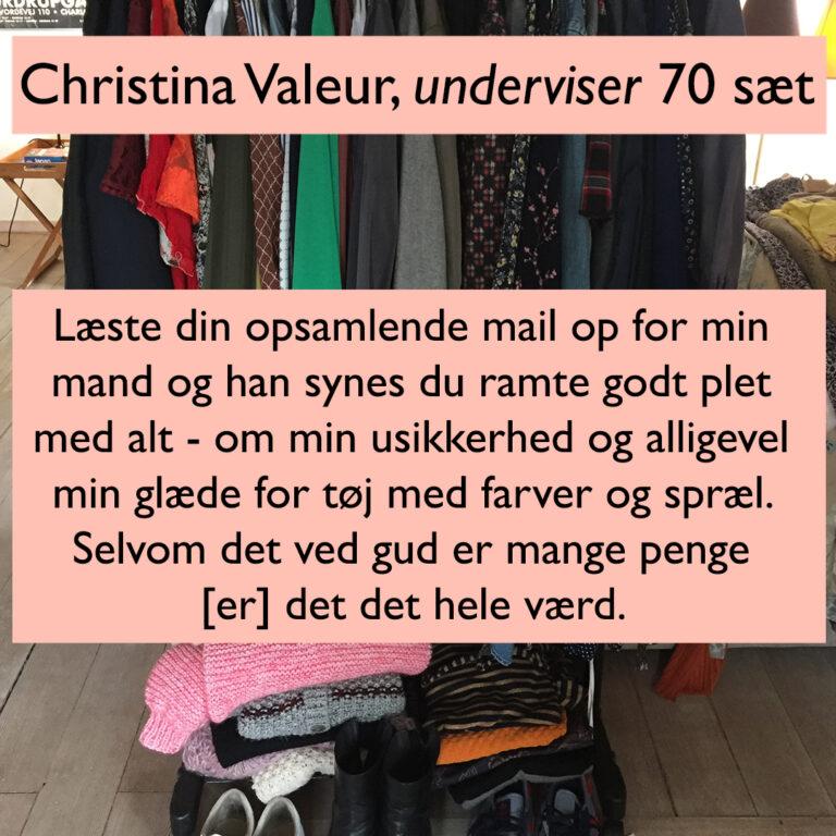 Testimonial garderobetjek Christina Valeur